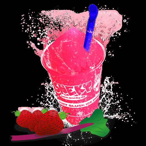 Sneky Ice Drink Sirup Rhabarber-Erdbeer
